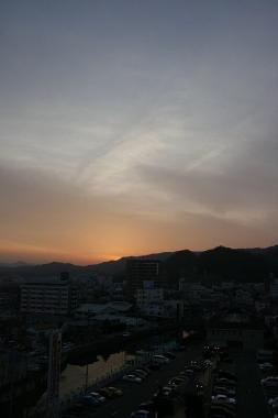 徳島の夕暮れ