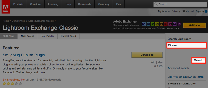 Adobe  Lightroom Exchange Classic