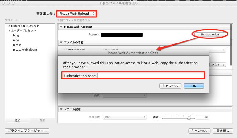 Picasa Web Authentication Code