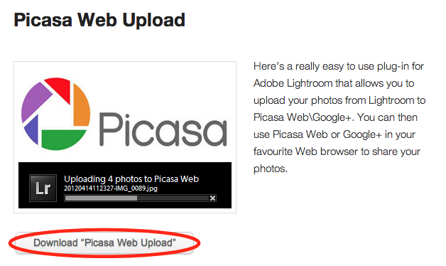 Picasa Web Upload   New P Products