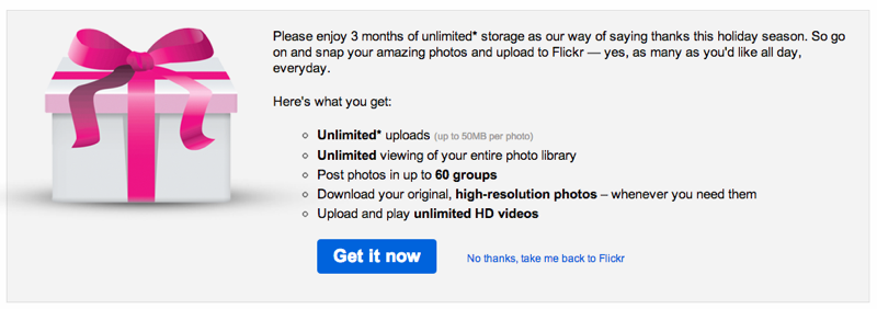 Flickr Holiday Gift