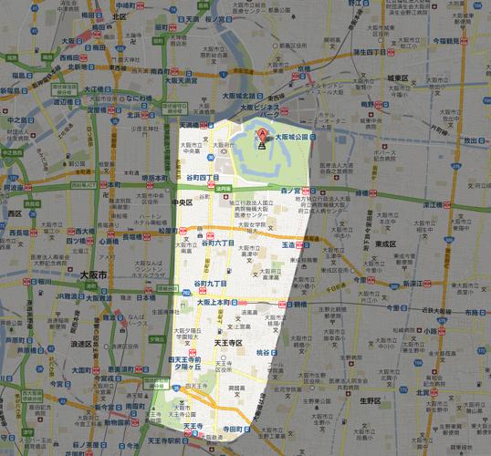 大阪城  Google マップ
