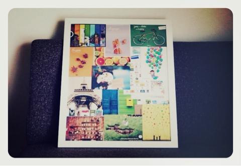 それと、先日イケアで買ってきた白いフレーム「NYTTJA」にこちらはポストクロッシングで海外からいただいたポストカードをポスター風に飾って収納。