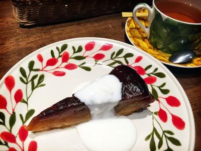 JR京都駅直結のカフェ「フィゲラス・スバコ」ではラ・ヴァチュールのタルトタタンが食べられます