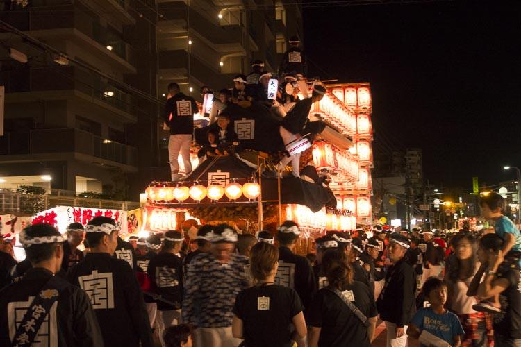 岸和田だんじり祭り  提灯